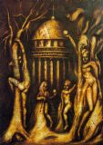 Adam and Eve: Temptation. Fine Art Print/Poster/Canvas. Sizes: A3/A2/A1